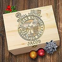 TWISTED ENVY Vintage Santa Stamp Personalised Wooden Christmas Eve Box