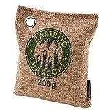 Bambú carbón bolsas iRegro absorbedor de carbón de leña olor, bolso purificador Natural de aire, captura y elimina los olores, Closets, zapatos, baños, refrigerador y áreas de mascotas (200g-1 paquete)