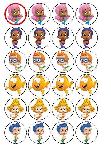 24 (#2) Motiv Bubble Guppies Tortenaufsatz für Cupcakes