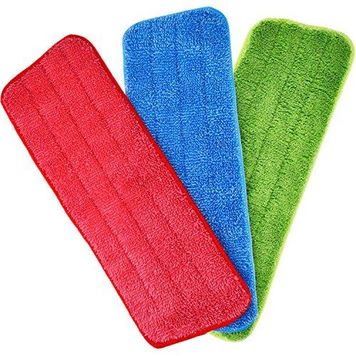 Mop Microfaser Reinigung Pads für Spray Mops und Reveal Mops Waschbar 42 x 14 cm, 3 Stück