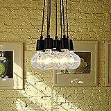 Fuloon Vintage Lámpara de techo Edison Loft iluminación Pendiente de la Lámpara moderna elegante comedor Industrial 7 Luces para Decoración (7)