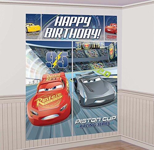 amscan 671763 Cars 3 Scene Setter Dekorationsset