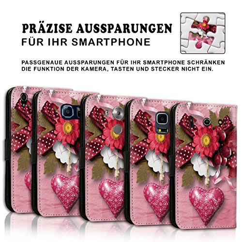 Wallet Book Style Flip Handy Tasche Case Schutz Hülle Schale Motiv Etui für Apple iPhone 5 / 5S - Variante UMV3 Design12 Design 2