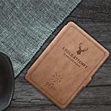MOCA PU Leather Soft Flip Back Cover with Auto Wake/Sleep for Amazon Kindle