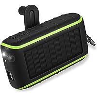Workingda Powerbank Solar Ladegerät, 10000mAh Externer Akku Kurbel Generator mit Dual USB Ausgängen und Taschenlampe für…