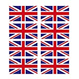 8 x Autocollant en vinyle brillant union jack-drapeau anglais - 2 x 20 mm #0064D casque de vélo