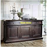 Made Wood Pipercrafts Sheesham Wooden Sideboard Storage Cabinet Tables for Living Room, Standard Size, Brown