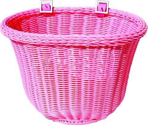 colorbasket Fahrradkorb für Erwachsene, wasserabweisend, mit Lederriemen, Unisex-Erwachsene, Adult Front Handlebar Bike Basket, Rose, Pink -