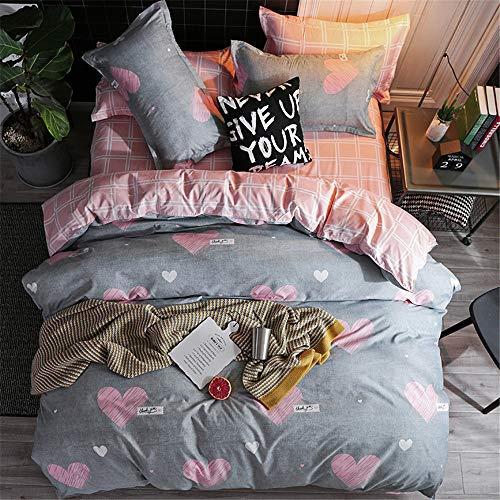 YUNSW Bettbezug Mode Tröster/Quilt/Decke Fall Twin Voll Königin König Student Schlafsaal Bettwäsche E 150x200 cm
