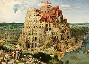 """Millésime Pieter BRUEGEL l'Ancien """" LA TOUR DE BABEL """" Environ 1563 - Sur Format A3 Papiers Brillants de 250g. Affiches de Reproduction"""