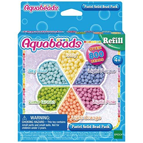 Aquabeads 31360 Pastell Perlen, Kinder Bastelset Nachfüllpack