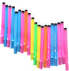 Magideal 20x Plastic Birds Flute Whistles Musical Toys Educational Tools Kids Chrismas Gifts - Multicolor