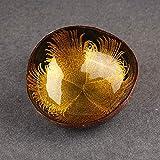 Kokosnuss-Schale – 100% natürlich, schön, langlebig, Kokosnussschalen, einzigartige handgefertigte Kokosnuss-Schüssel, Home Desktop Ornamente Dekoration, Candy Küche Decor, gelb, Free Size