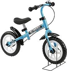 Enkeeo Laufrad - 10 Zoll & 12 Zoll Sport Balance Bike Lernlaufrad Kinderfahrrad ab 2 Jahren mit Klingel und Fahrradständer