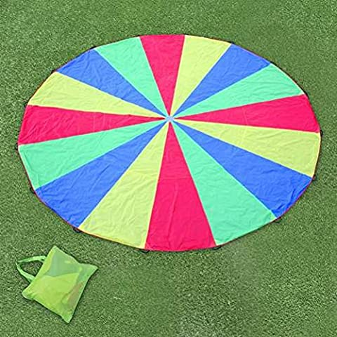Great Gift For Kids ! Kids Play Parachute 6m Large Children Rainbow Outdoor Game / Game Play Educational Creative Toddler Boys Girls Unique Special Birthday Gift Party Christmas XMAS Present Idea Construction Garage Outdoor Child Kiddie Childrens Kids Home Lawn Room Yard Backyard Play Playing Classic Retro Little Learning Development Developmental Building Craft Art Drawing Action Popular Preschool Activity Traditional Stuff Cute