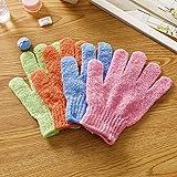 Frcolor 5 Paar Bad Peeling Handschuhe, fünf Finger Körper Scrub Handschuhe Bad Dusche Sauna Scrubber Mitt Dead Skin Cell Remover für Männer und Frauen