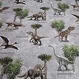Stoff Baumwolle Rips Dinosaurier Brachiosaurus