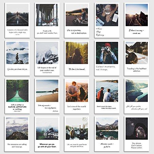 Postkarten Set Travel - 20 Sprüche und Bilder zum Thema Reise, Reisen, Urlaub, Strand und Meer im retro Polaroid Style von INDIVIDUAL NOMAD