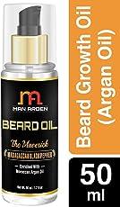 Man Arden Beard & Mustache Oil Maverick Hair Growth Oil With Argan, Almond, Avocado Oil - 50 ml