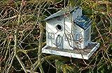 """Luxus-Vogelhaus 12283FSC Kombination: Dekorativer Nistkasten und Futterhaus """"Bed and Breakfast"""" mit Kiesterrasse, weiߟ lackiert - 3"""