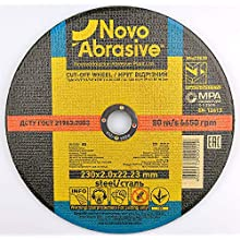 NOVOABRASIVE Metal Cutting Disc 115, 125, 230, 300, 355 mm stainless steel cuttings dics for Angle Grinder Use For Metal, Stainless Steel, Steel and Non-Ferrous Metals (115 x 3 x 22.2mm, 10)
