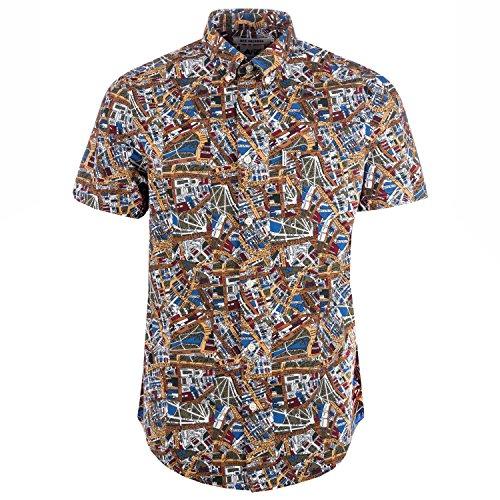 Ben Sherman Herren Freizeit-Hemd Weiß gebrochenes weiß Gr. XL, gebrochenes weiß (Ben Sherman-hemd)