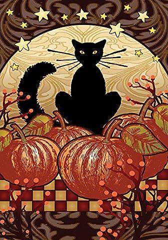 Toland Home Garden Mondschein-Katze, Orange