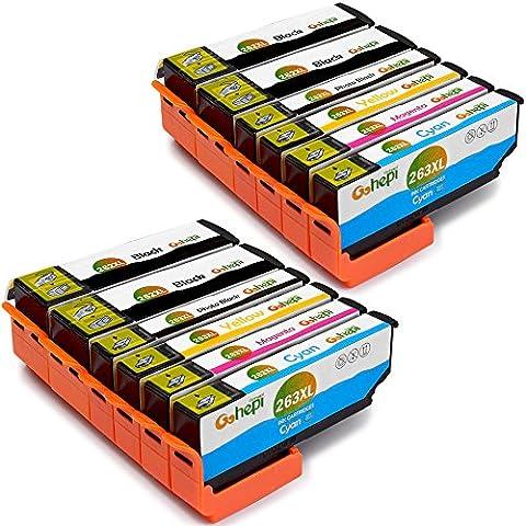 Gohepi 26XL Compatible pour Cartouches Epson 26XL 26, 4 Noir/2 Photo-noir/2 Cyan/2 Magenta/2 Jaune Pack de 12 Travailler avec Epson XP-610 XP-700 XP-800 XP-600 XP-625 XP-615 XP-510 XP-605 XP-520 XP-620 XP-820 XP-710 XP-810 XP-720