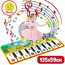 Vykor Toddler Music Blanket, Large 135*59cm Touch Keyboard Dancing Carpet, The Best Musical Toy Gift For Children