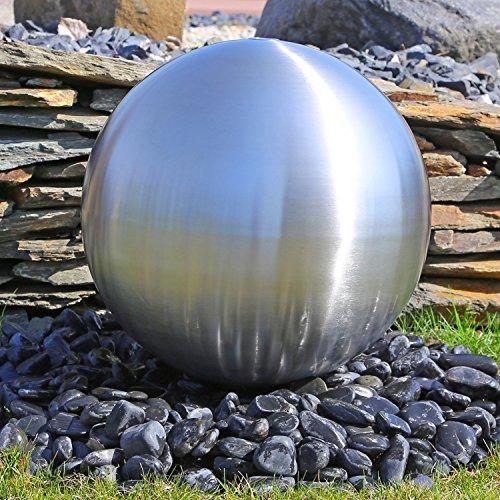 CLGarden Élément en acier inoxydable pour la fontaine de jardin eSB5 Grande boule en acier brossé avec 48 cm Diamètre Jeu d'eau Fontaine d'extérieur