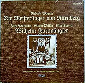 Wagner: Die Meistersinger von Nürnberg (Live-Aufnahme aus dem Festspielhaus Bayreuth 1943) [Vinyl Schallplatte] [5 LP Box-Set]