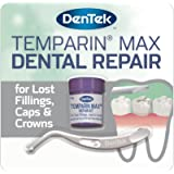 DenTek Temparin Max Home Dental Repair Kit for repairing lost fillings and loose caps, crowns or inlays - 12+ Repairs