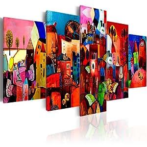 murando Quadro 200x100 cm 5 pezzi Stampa su tela in TNT XXL Immagini moderni Murale Fotografia Grafica Decorazione da parete 051447