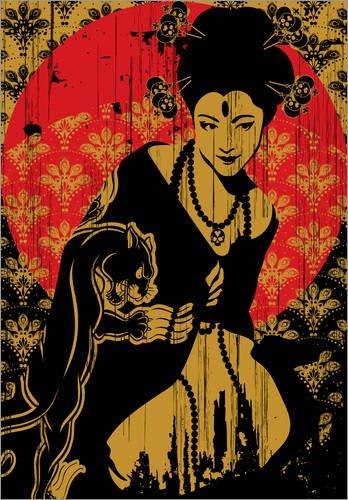 Póster 30 x 40 cm: Geisha de dolceQ - impresión artística, Nuevo póster artístico