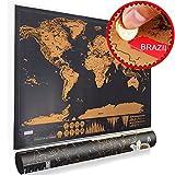 Mappa del mondo da grattare, Scratch map, Gratta via i posti in cui viaggi, Mappa mondo parete, Poster VOOA (S: 42 x 30 cm)