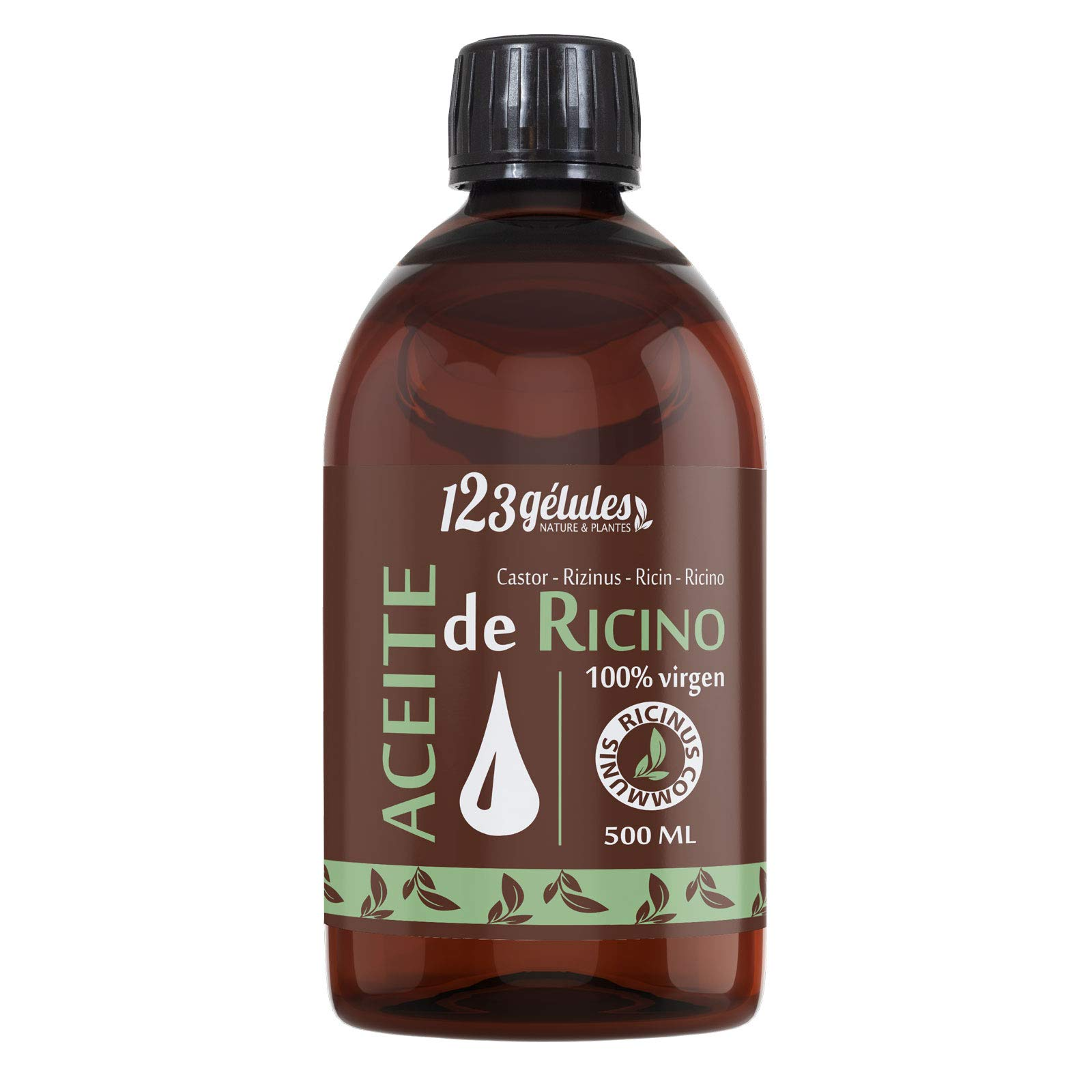 Aceite de Ricino 500 ml – 100% virgen – 1a presión en frío – Ricinus Communis