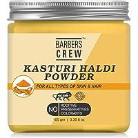 Barbers crew Natural & Organic Kasturi Haldi Powder for Brightening & Glowing Skin, Face Pack, 100gm