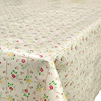 Hule mesa mantel de hule lavable flores en cuadros tamaño a elegir), plástico, carbón, 220 x 140cm