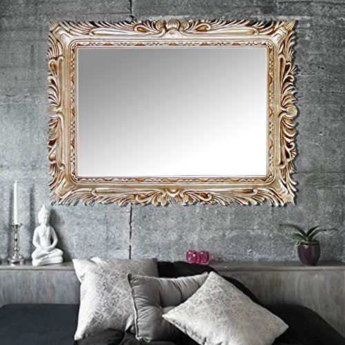 Elegant Arts & Frames Antique Silver Decorative Mirror Frame