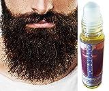 Huile de barbe MOUSTACHE Anti Chute Poils Visage Accelerateur Pousse Cheveux serum/huile à barbe pour homme 10ml