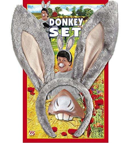 Panelize Esel Donkey Esel Set mit Schwanz Junggesellenabschied Eselohren - Donkey Ohren Kostüm