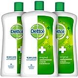 Dettol Liquid Handwash Refill Bottle - Original Germ Protection Hand Wash (Pack of 3 - 900ml each) | Antibacterial Formula |