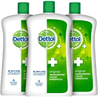 Dettol Liquid Handwash Refill Bottle - Original Germ Protection Hand Wash (Pack of 3 - 900ml each)   Antibacterial…