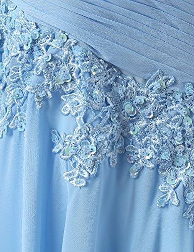 Dresstells Damen Lang Chiffon Promi-Kleider Maxi Abendkleider Royalblau
