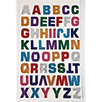 Glitterati 52 Foam 3 D effect Self Adhesive Large Multicoloured Glittery ALPHABET/LETTER Stickers