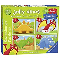 Ravensburger My First Puzzle, Jolly Dinos (2, 3, 4 & 5pc) Jigsaw Puzzles