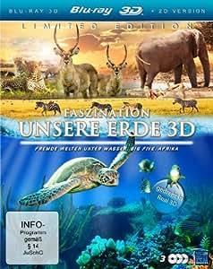 Faszination Unsere Erde 3D (Faszination Afrika / Faszination Korallenriff / Südafrika) (3 Blu-rays) [3D Blu-ray]