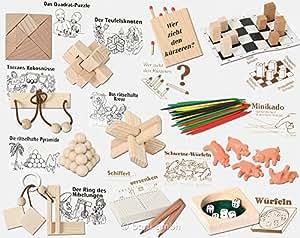 Matura Mini Puzzles & Spiele Set (12 Stück)