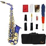 LADE Saxofón Eb E-Flat Alto Latón Grabado Botones Shell del Olmo Instrumento de Viento con Estuche Guantes Paño de Limpieza G