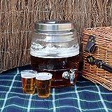 SHINE Bebidas DE Vidrio/Distribuidor DE Cerveza 8L Cristal Mason Jar Home/Exterior/Picnic Bar Y Partes (Vaso DE Cerveza)